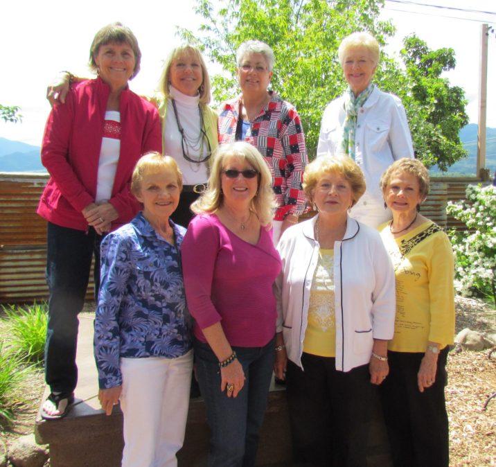 2011-2013 Board of Directors. Front row: Gerene Leffingwell, Gayle Schanck, Carol Ferros, Ida Tolmie. Back row: Joan Devlin, Carolyn Hein, Maxine Williams, Marcia McIntyre