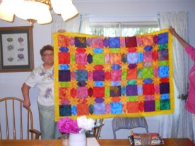 Lydia also likes to make other types of quilts. This fabric came from one of our Shop Hops!
