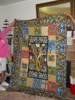 Lydia Davidson sure likes BRIGHT quilts!