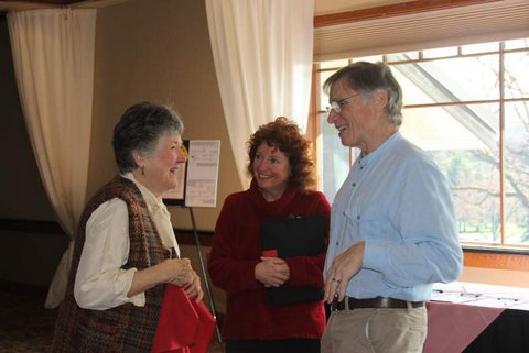 Barry Kraft, his wife and Carolyn Stieber, program coordinator.