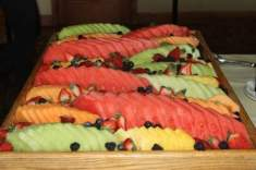 A beautiful and scrumptious fruit tray was part of the great luncheon buffet.