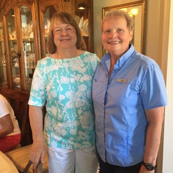 Our wonderful hostesses Janice Kabel and Susan Orr.
