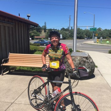 EPWC member, Viki Brown, completed the 62 mile route on the Tour de Eagle Point bike ride.
