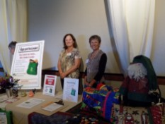 Kay Caulkins and Kathy Johnson representing the Eagle Point Food Project.