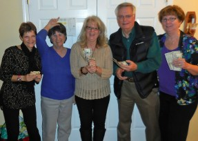 The winners and loser at Diane & Dave Giles home.