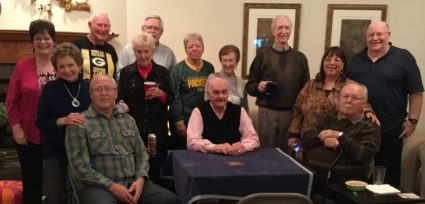 A group shot of the guest at Diane & Bill Sproat's home.