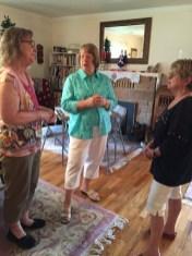 Virginia Felker, Sharyn Close and Janice Kabel enjoy some conversation