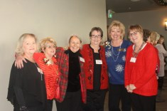 Lots of smiles from Glenna Hartman, Sharyn Close, Barbara Young, Margy Nickelson, Sharissa Evans, and Sue Buchanan