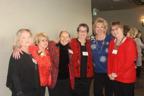 Lots of smiles from Glenna Hartman, Sharyn Close, Barbara Young, Margy Nickelson, Sharissa Evans, and Sue Buchanan
