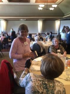 Joan Devlin doing some farewell visiting