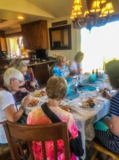 Table setting at Viki's home