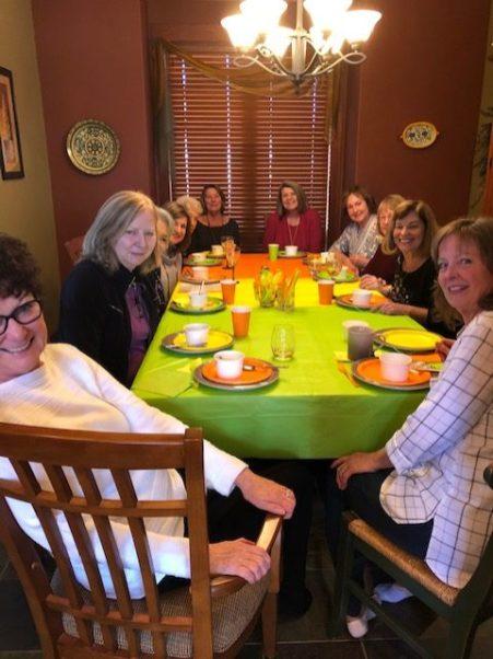 Happy members at Nancy's house