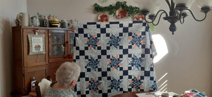 Dora Moore's quilt for her granddaughter.