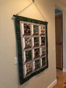 Elaine finished & hung her Oregon Life quilt.