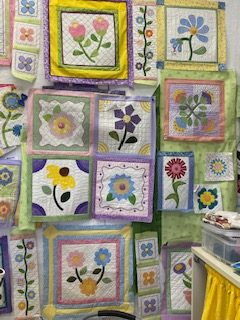 Linda's Stitcher's Garden quilt is coming along nicely