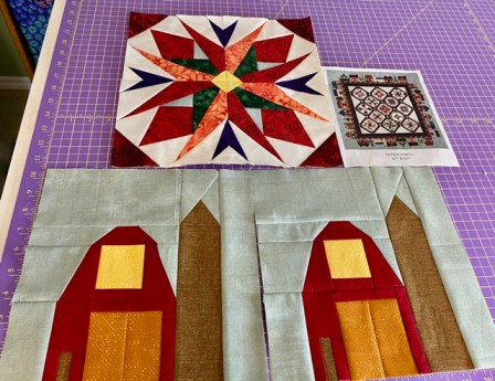 Terry has a beautiful quilt project newly started