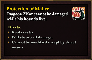 Effect - Protection of Malice