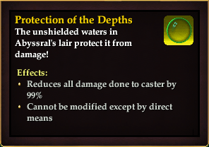 Effect - Protection of the Depths