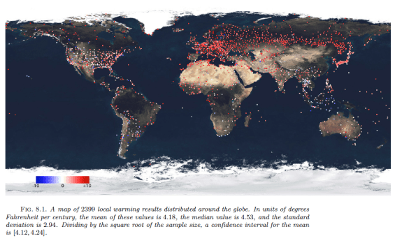 global map of local climate change