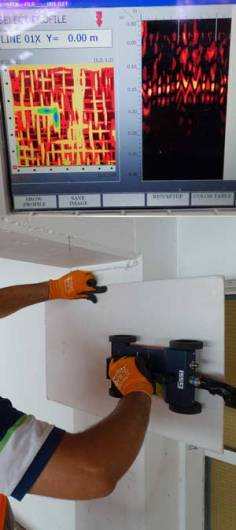Ferro and GPR scanning