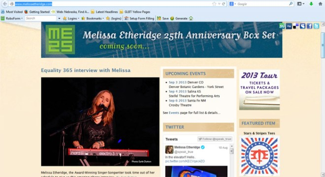 MelissaEtheridge.com equality365.com