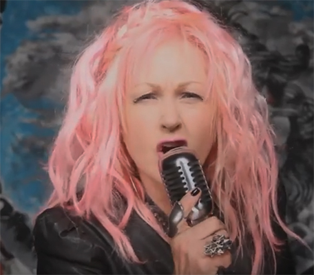 "Cyndi Lauper Debuts ""Funnel Of Love"" Video"