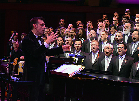 Paul Cadlwell with the Seattle Men's Chorus