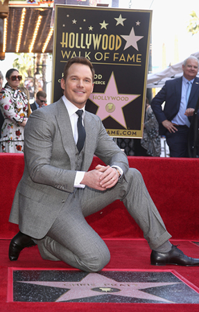 Chris Pratt Star on Hollywood Walk of Fame