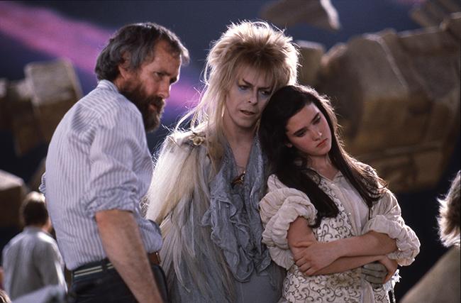 Jim Henson, David Bowie, & Jennifer Connelly on Labyrinth set
