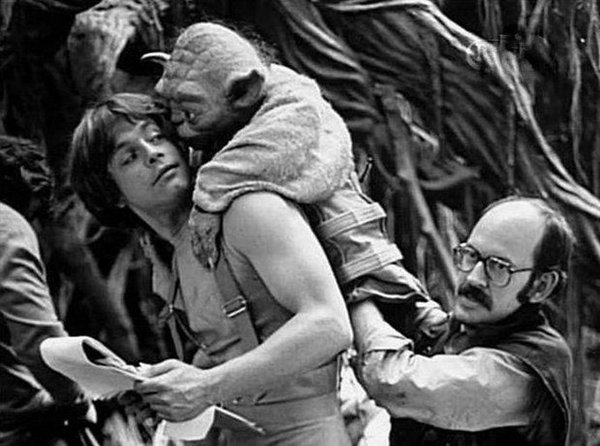 """Frank Oz performing as Yoda in """"The Empire Strikes Back"""""""