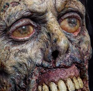 """Prop head from AMC's """"The Walking Dead"""" (Photo by Brady Harvey) MoPop"""