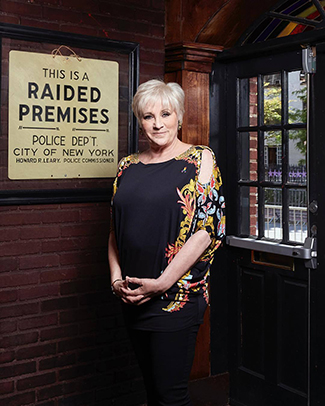 Lorna Luft at the historic Stonewall Inn (photo by Eric McNatt)