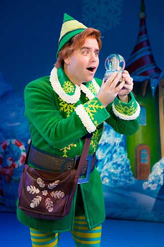 Sam Hartley as Buddy in Elf the Musical
