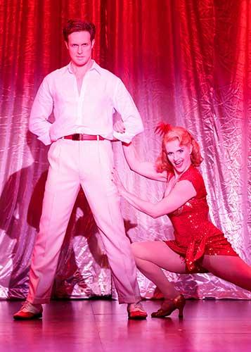 Matt Owen as Ted Hanover and Taryn Darr as Lila Dixon in Irving Berlin's Holiday Inn - Photo Credit Mark Kitaoka