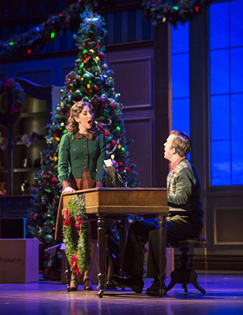 Sarah Rose Davis as Linda Mason and Eric Ankrim as Jim Hardy in Irving Berlin's Holiday Inn - Photo Credit Tracy Martin