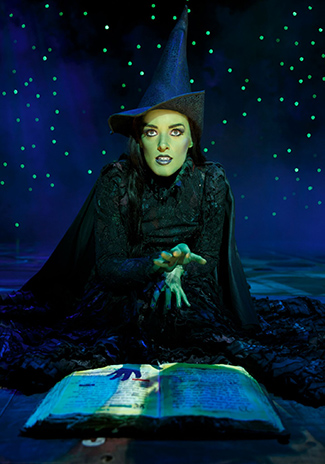 "Mary Kate Morrissey as ""Elphaba"" in ""Wicked"" - photo by Joan Marcus"