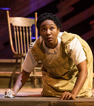 """Adrianna Hicks (Celie) in the North American tour of """"THE COLOR PURPLE."""" Photo by Matthew Murphy, 2017."""