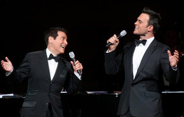 """Michael Feinstein & Cheyenne Jackson at Carnegie Hall with their show """"The Power of Two"""" in 2009 on equality365.com"""
