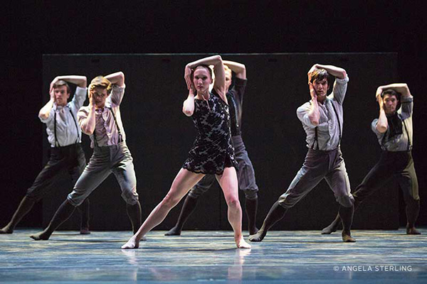"Pacific Northwest Ballet's ""Little mortal jump"" (photo by Angela Sterling) on equality365.com"