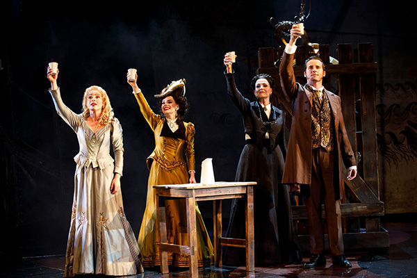 """Dear Old Friend""–Mary Michael Patterson (""Meg Giry""), Meghan Picerno (""Christine Daaé""), Karen Mason (""Madame Giry"") and Sean Thompson (""Raoul, Vicomte de Chagny"") star in Love Never Dies."