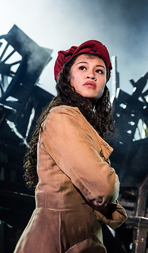 Emily Bautista as 'Éponine' in the new national tour of LES MISÉRABLES. (Photo by Matthew Murphy)