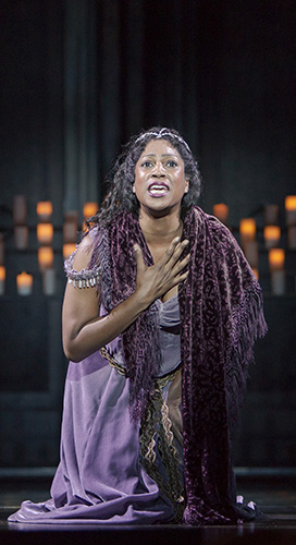 Dan'yelle Williamson stars as Esmeralda in The Hunchback of Notre Dame - Photo Credit Tracy Martin