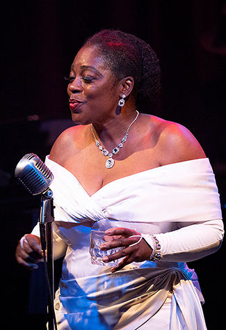 "Felicia Loud as Billie Holiday in ""Lady Day at Emerson's Bar and Grill"" at ArtsWest"