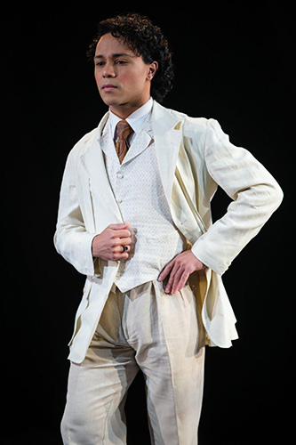 Chip Sherman as Dorian Gray in Book-It Reps The Picture of Dorian Gray. Photo by John Ulman.