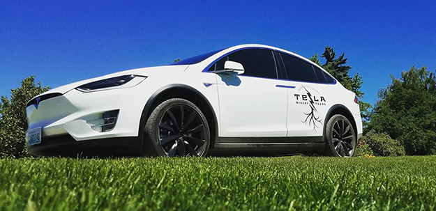 Tesla Model X 90D of Tesla Winery Tours in Walla Walla