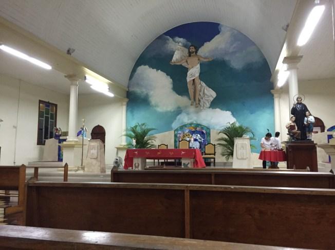 La Iglesia Catolica en el pueblo de La Fortuna
