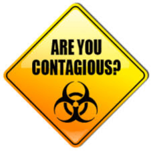 contagious warning sign