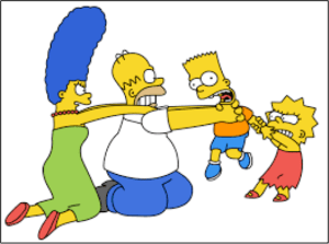 Simpsons family argument