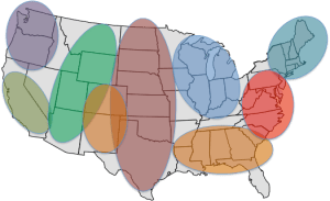 country regions
