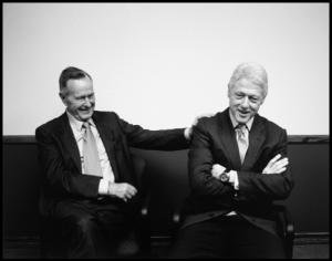 121218 Bush and Clinton